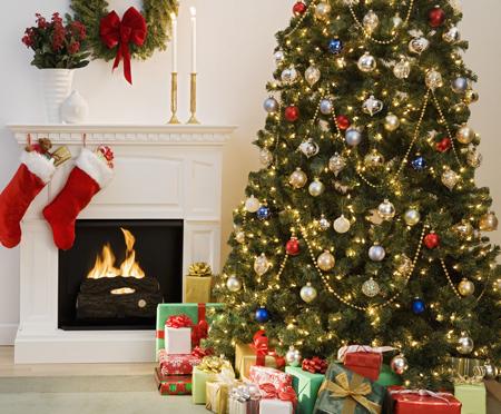 ایده هایی برای دکوراسیون خانه در کریسمس,تزیین خانه برای کریسمس