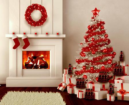 تزیین و چیدمان خانه با درخت کریسمس,چیدمان درخت کریسمس