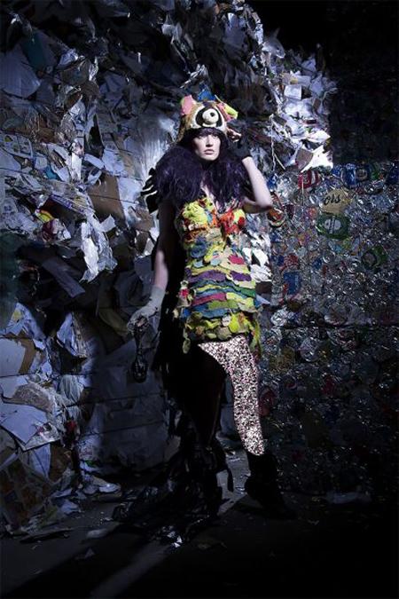 مدل پیراهن های ساخته شده با زباله, لباس های ساخته شده از زباله