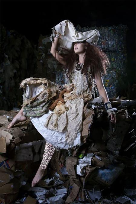 طراحی لباس های ساخته شده از زباله, ایده های ساخت لباس با زباله