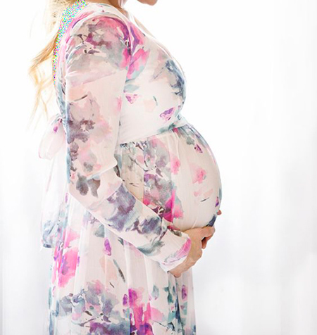 انتخاب رنگ لباس بارداری,لباس های بارداری رنگی