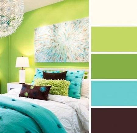 نکاتی برای انتخاب ترکیب رنگ,تکنیک های انتخاب رنگ های ترکیبی اتاق خواب