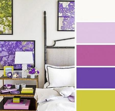نکاتی برای انتخاب رنگ,ترکیب رنگ های مناسب اتاق خواب