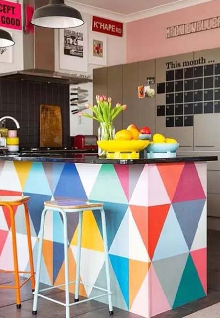 دکوراسیون آشپزخانه های رنگارنگ,دکوراسیون آشپزخانه های رنگی