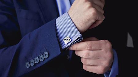 اکسسوری مناسب آقایان,نحوه استفاده از دکمه سر آستین