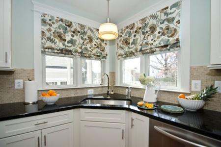 پرده های پارچه ای آشپزخانه, مدل پرده های شید آشپزخانه