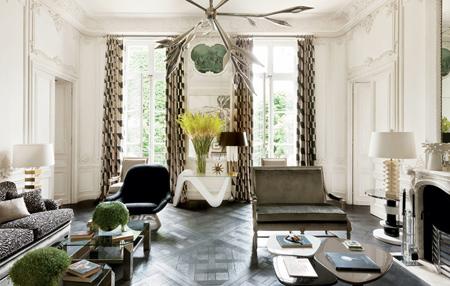طراحی دکوراسیون برگرفته از مد, ترکیب کردن رنگ ها و طرح ها در طراحی خانه