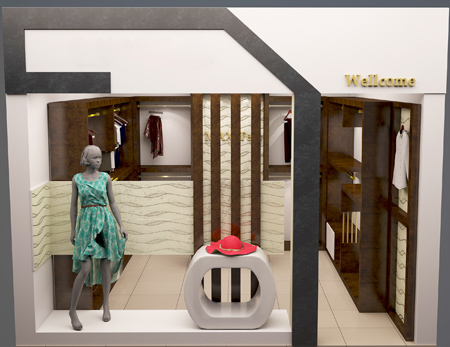 مدل طراحی و دکوراسیون ویترین مغازه ها, مدل دکوراسیون و چیدمان ویترین مغازه لباس فروشی