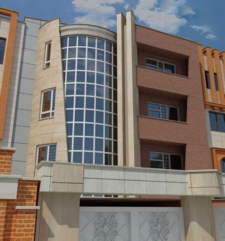 نمای بیرونی ساختمان,مدل نمای بیرونی ساختمان
