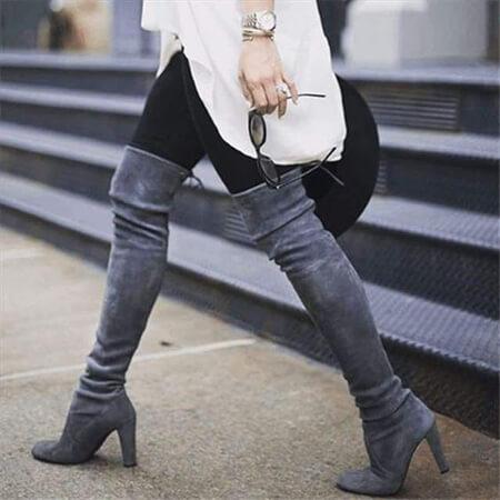 طراحی بوت های خاکستری زنانه, بوت های مجلسی خاکستری