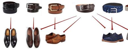 راهنمای ست کردن رنگ کفش با کمربند,اصول ست کردن رنگ کفش با کمربند