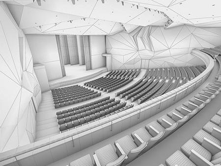 طراحی سالن آمفی تئاتر,سالن اجرا آمفی تئاتر,طراحی سالن های آمفی تئاتر
