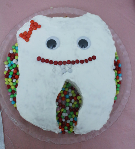 کیک جشن دندونی,خوراکی های جشن دندونی,جشن دندونی