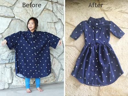 تغییر مدل پیراهن,چگونه لباس کوتاه را بلند کنیم