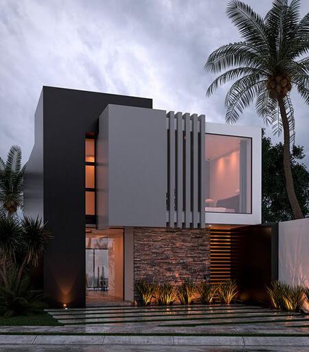 ایده برای طراحی ویلا, طراحی نمای ویلا, نمای ساختمان ویلا