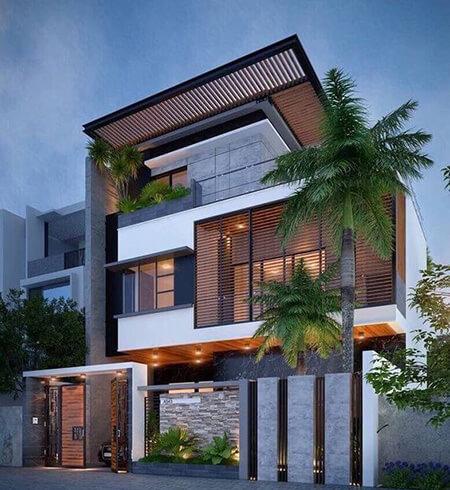 ایده هایی برای نماهای ساختمان, انواع طراحی های نمای ساختمان ویلا, طراحی های نمای ویلا