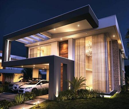 نمای ساختمان ویلا, مدل های طراحی ویلا, شیک ترین طراحی های ویلا