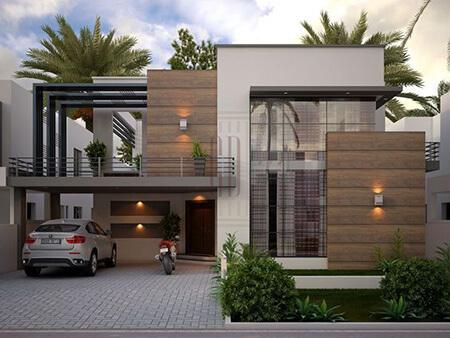انواع طراحی نمای ویلا,انواع طراحی های نمای ساختمان ویلا,طراحی شیک ترین نماهای ساختمان ویلا