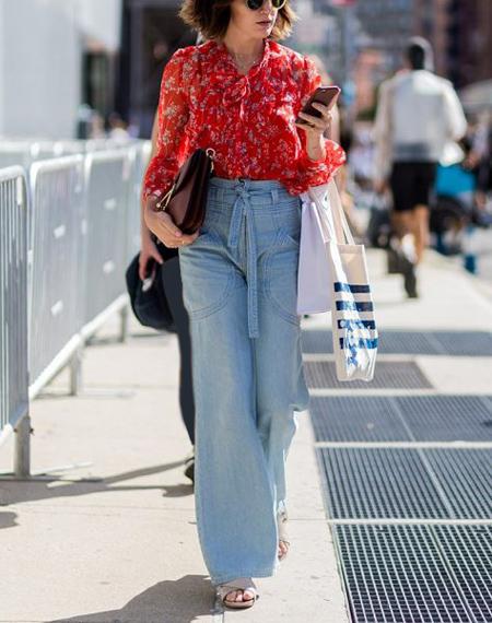 انواع سبک شلوار جین, شلوار جین راسته