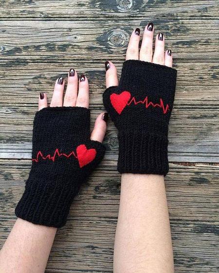 مدل دستکش دخترانه,دستکش بافتنی طرح دار