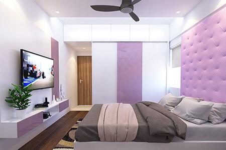 دکوراسیون و چیدمان یاسی اتاق خواب, ترکیب رنگ یاسی در دکوراسیون اتاق خواب, دکوراسیون یاسی اتاق خواب
