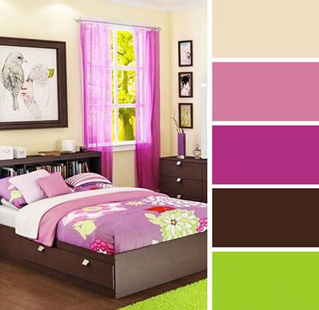 دکوراسیون و چیدمان اتاق خواب به رنگ یاسی, ترکیب رنگ یاسی در دکوراسیون اتاق خواب, دکوراسیون یاسی اتاق خواب
