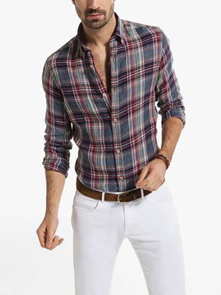 جدیدترین پیراهن چهارخانه مردانه