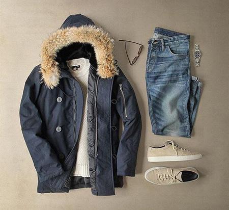 ست زمستانی مردانه با کاپشن, مدل های ست لباس مردانه با کاپشن
