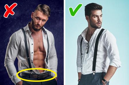 اشتباهاتی در لباس پوشیدن آقایان,پوشیدن کمربند و بند شلوار