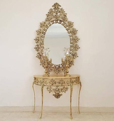 مدل میز کنسول و آینه, مدل آینه شمعدان شیک