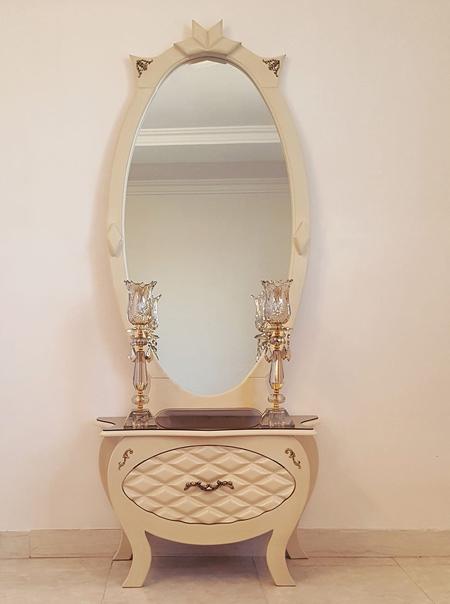 آینه شمعدان ملیله نقره, مدل آینه شمعدان ملیله