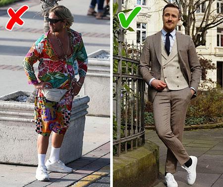 مهارت های لباس پوشیدن آقایان,10 اشتباه لباس پوشیدن آقایان