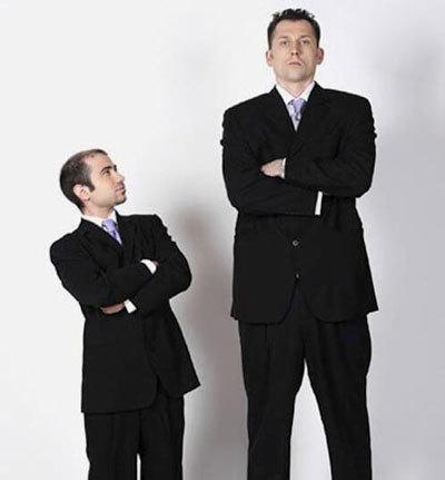 نکاتی برای پوشیدن لباس افراد کوتاه, پوشش آقایان کوتاه