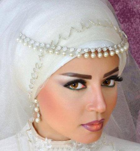 ویسگون تور محجبه عروس,ویسگون تور با حجاب عروس