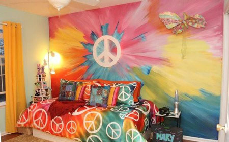 رنگ آمیزی دیوارهای خانه به سبک متفاوت