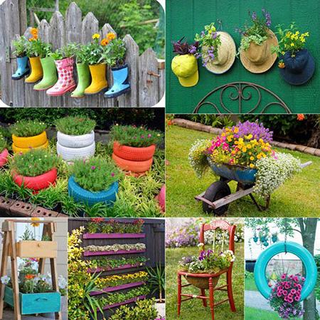 مدل گلدان های دست ساز,تزیین باغ و حیاط خانه