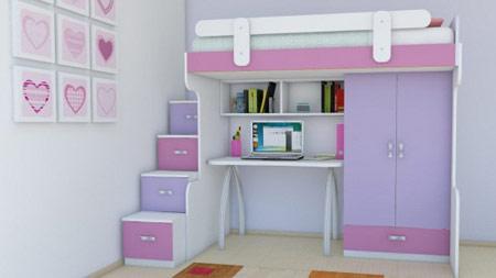مدل کمد و تخت های دو طبقه بچه ها