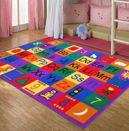 مدل های زیبا فرش زیر اتاق خواب بچه, مدل فرش کودکانه