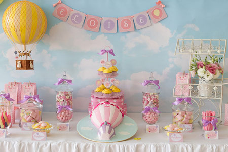 تم تولد بالون, چیدمان جشن تولد