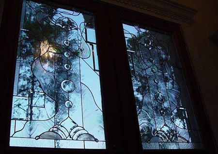 شیشه های رنگی مدرن,دکوراسیون شیشه های رنگی