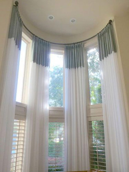 تزیین پنجره های بلند,مدل های پنجره های بلند