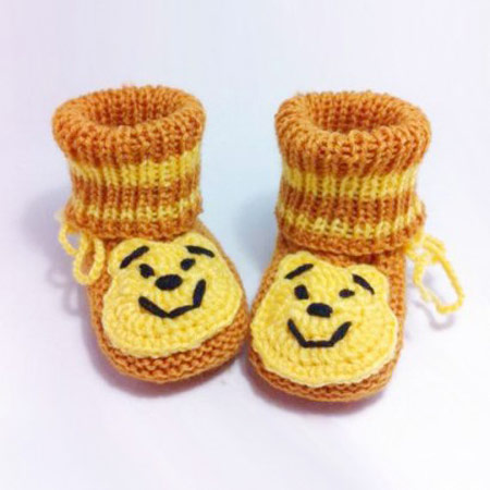 مدل کفش ها و جوراب های بافتنی بچه گانهمدل جوراب بافتنی بچه گانه, مدل کفش بافتنی