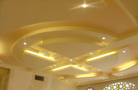 مدل کتیبه به سبک کناف Attractive Modern Living Room False Ceiling Designs.Modern Gypsum Board Ceiling Design For Modern Living Room . Modern False Cei