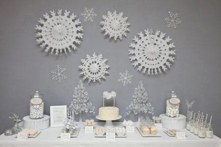 تزیینات جشن تولد کودکان,تم تولد برف