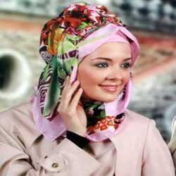 بستن روسری چهار گوش لبنانی مدل روسری ایرانی و اروپایی