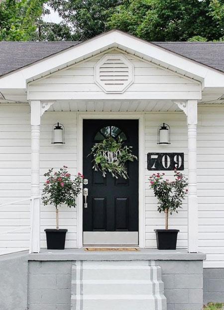 تزیین در ورودی خانه ها,تزیین بالکن