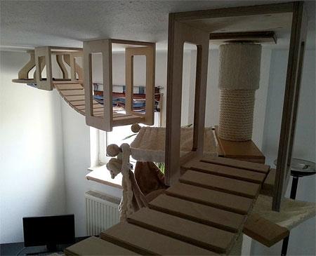 طراحی خانه گربه, مبلمان برای گربه