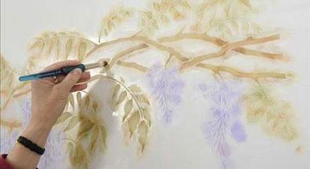 رنگ دیوار مد روز, نقاشی روی دیوار پذیرایی