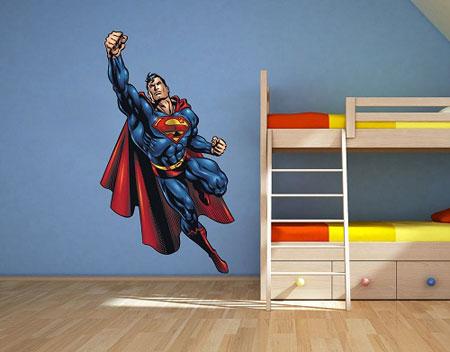 تزیین اتاق با برچسب سوپرمن, دکوراسیون اتاق پسرهای نوجوان