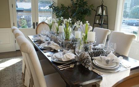 زیباترین میز غذاخوری, چیدمان میز غذاخوری